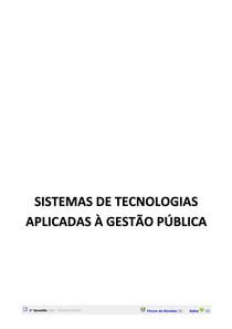 Sistemas de Tecnologia Apl. no Set. Publ.