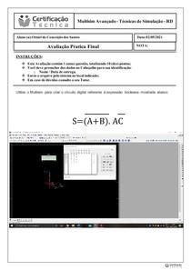 Atividade Prática Final - Multisim Avançado - Técnicas de Simulação - RD