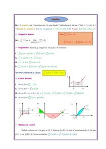 [Cálculo] Integrais - Primitiva (Resumo)