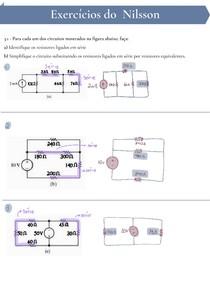 [Resolvida]Lista de exercícios de Associação de Resistores, fontes e transformação estrela triângulo