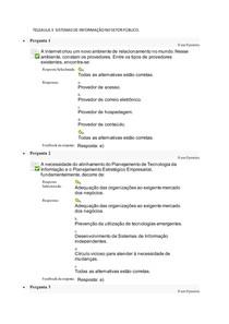 TELEAULA 3 SISTEMAS DE INFORMAÇÃO NO SETOR PÚBLICO