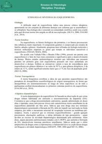 ETIOLOGIA E SINTOMAS DA ESQUIZOFRENIA
