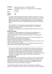 avaliação discursiva final de representação tematica