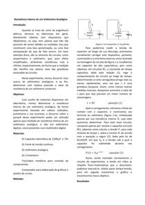 Relatório: Resistência interna de um voltímetro