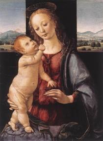 Leonardo Da Vince - Madonna and Child with a Pomegranate