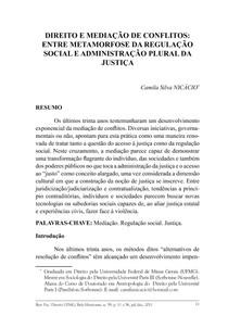 Direito e mediação de conflitos   Camila Silva Nicacio