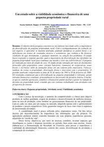 Um estudo sobre a viabilidade econômica e financeira de uma pequena propriedade rural