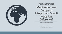 Sub-national Mobilization and European Integration: Does it Make Any Difference?