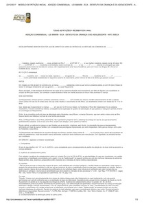 MODELO DE PETIÇÃO INICIAL   ADOÇÃO CONSENSUAL   LEI 8069 90   ECA   ESTATUTO DA CRIANÇA E DO ADOLESCENTE   ART