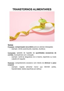 TRANSTORNOS ALIMENTARES - anorexia e bulimia