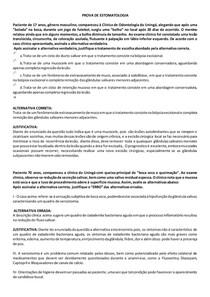 AVALIAÇÃO DE ESTOMATOLOGIA