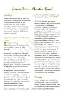 Suinocultura - Mundo e Brasil