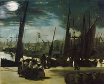 Edouard Manet - Moonlight-over-the-Port-of-Boulogne