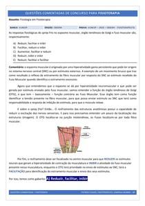 Espasmo Muscular - Questão Comentada (Concurso)