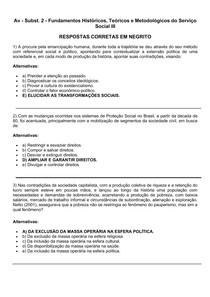 Av - Subst 2 - Fundamentos Históricos, Teóricos e Metodológicos do Serviço Social III