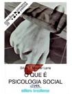 O que é Psicologia Social  LANE, SILVIA