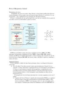 Bioquímica - Metabolismo do ferro e xenobióticos