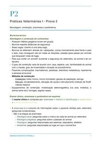 Abordagem, contenção, exame clínico e parâmetros - ruminantes e equinos