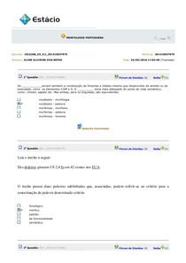 AV2 Morfologia Portuguesa CEL0268