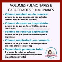 volumes pulmonares e capacidades pulmonares