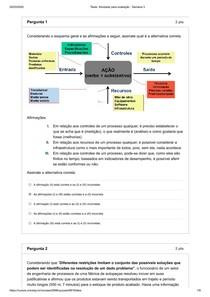 Atividade para avaliação Engenharia métodos- Semana 3