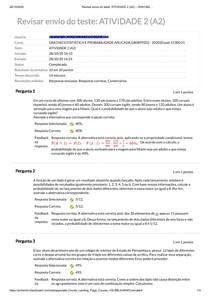 A2 - ESTATISTICAS E PROBABILIDADE - UAM EAD
