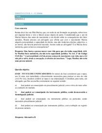 Caso concreto 2 Direito Civil I