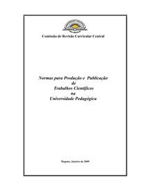 Normas para Produção e Publicação de Trabalhos Científicos