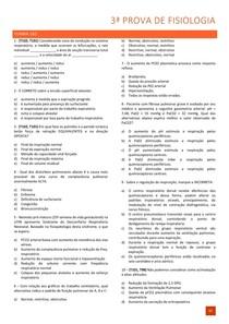 Questões de Fisiologia - Fisiologia respiratória e renal