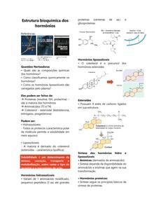 Estrutura bioquimica dos hormônios