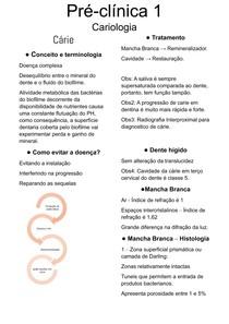 Pré - Clinica I - Cariologia
