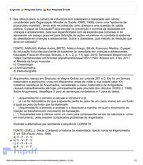 UNIASSELVI - Cinesiologia e Biomecânica - AVALIAÇÃO I