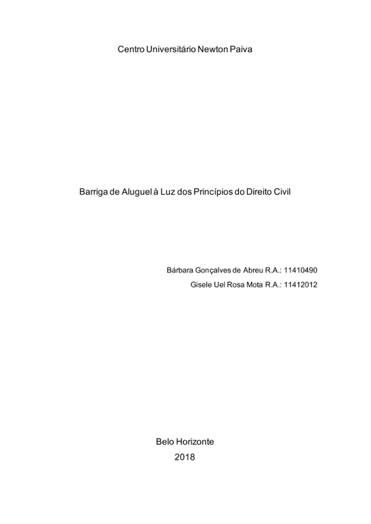 Pre-visualização do material barriga de aluguel - página 1