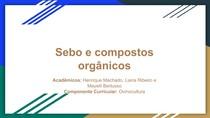 Sebo e compostos orgânicos