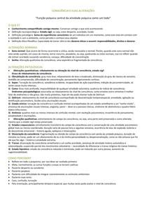 Resumo de Psicopato 1   Alterações das Funções Psíquicas   5 Semestre