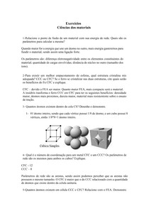 Lista ciências dos materiais