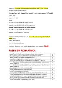 MODELO DE PREENCHIMENTO FICHA APS PCIIS 2019-2 UNIP DIURNO