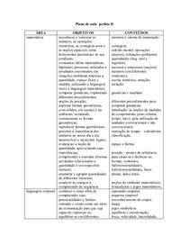 modelo plano de aula jardim educação infantil