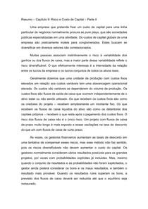 Resumo (parte II) Capítulo 9 - Princípios de Finanças Corporativas - Brealey, Myers e Allen