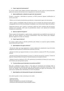 5. PERGUNTAS   AGRAVO DE INSTRUMENTO   TD