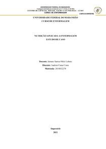 ATIVIDADE DE NUTRIÇÃO - ESTUDO DE CASO - ISADORA VIANA COSTA