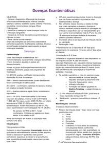 Tutorial 2 - Doenças Exantemáticas, doenças de notificação obrigatória