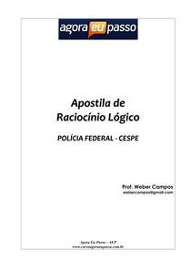 APOSTILA DE RACIOCINIO LÓGICO PF - CESPE