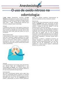 Anestesiologia- Oxido nitroso
