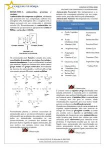 Proteinas, Aminoácidos e Enzimas