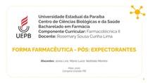 Expectorantes - Farmacotécnica