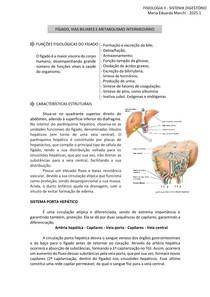 FISIOLOGIA II FÍGADO, VIAS BILIARES E METABOLISMO INTERMEDIÁRIO