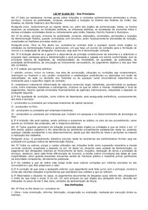 LEI 8666 - Princ - Modalidades - Exig e Dispensa