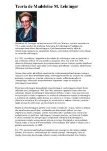 TEORIAS DE ENFERMAGEM TODAS