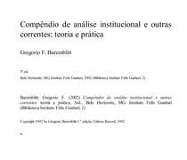 Baremblitt   Compendio de Análise Institucional e outras correntes